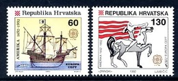 CROATIA 1992 Europa: Discovery Of America II MNH / **.  Michel 211-12 - Croacia