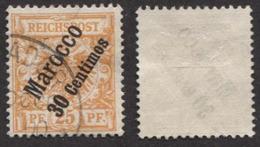 Allemagne, Colonie Allemande, Bureau Au Maroc, Deutsche Post In Marokko N°5 Oblitéré, Qualité Très Beau - Offices: Morocco