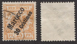 Allemagne, Colonie Allemande, Bureau Au Maroc, Deutsche Post In Marokko N°5 Oblitéré, Qualité Très Beau - Deutsche Post In Marokko