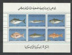 1992-Libya-Marine Life- Fishes- Minisheet MNH** - Libya
