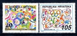 CROATIA 1992 Olympic Games  MNH / **.  Michel 203-04 - Croatie