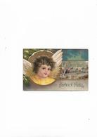 Carte Postale Ancienne  1904 Joyeux Noel   Petit Ange Avec Paysage - Altri