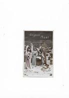 Carte Postale Ancienne  1909 Joyeux Noel  Trois Enfants Dans - Other