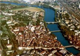 Solothurn - Flugaufnahme Der Altstadt Mit Der Aare (1217) - SO Soleure