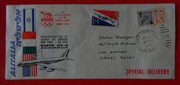 1960-  FFC, COVER - ALITALIA, INAUGURATION OF FASTEST JET SERVICE NEW YORK-TEL AVIV- SUPER DC-8 - Andere