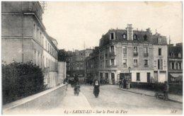 50 SAINT-LO - Sur Le Pont De Vire - Saint Lo