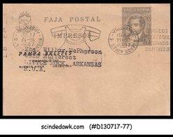 ARGENTINA - 1947 3c WRAPPER  To USA - Postal Stationery