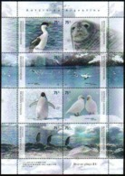 Feuille De Bloc Antarctique, Faune Antarctique - Blocks & Kleinbögen