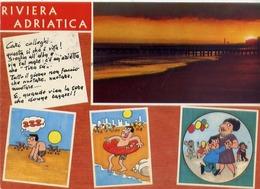 Riviera Adriatica - Humor - Umoristica - Formato Grande Viaggiata – E 13 - Italie