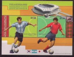 Argentine, Bloc De Football, Coupe Du Monde Japon Corée 2002 - Blocks & Kleinbögen