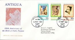 1981 Antigua FDC 100th Anniversary Of The Birth Of Pablo Picasso - Antigua And Barbuda (1981-...)