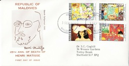 1979 Maldives FDC 25th Ann Of Death Of Henri Matisse - Maldives (1965-...)