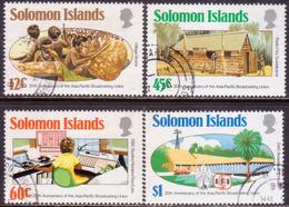 SOLOMON ISLANDS 1984 SG #524-27 Compl.set Used Asia-Pacific Broadcasting Union - Salomon (Iles 1978-...)