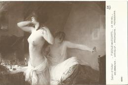 CPA / Salon  Paris / P . Sezille Des Essarts / Le Réveil /nus - Peintures & Tableaux