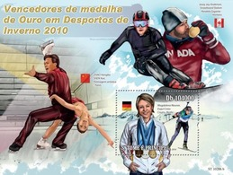 Sao Tome & Principe 2010. [st10206] Winners Of Winter Sport Games (s\s+bl) - Winter 2010: Vancouver