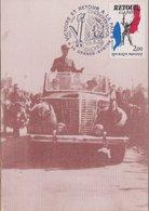 CARTE TIMBRE   1985 VICTOIRE ET RETOUR A LA PAIX (GRANDE SYNTHE) VOIR PHOTOS - Marcophilie (Lettres)