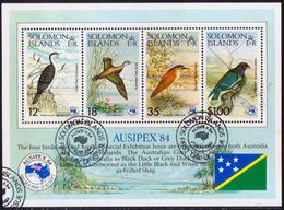 SOLOMON ISLANDS 1984 SG #537 M/s Used AUSIPEX. Birds - Solomon Islands (1978-...)