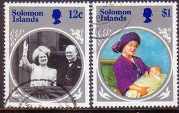 SOLOMON ISLANDS 1985 SG #538//41 Part Set (2 Stamps Of 4) Used Queen Mother - Solomon Islands (1978-...)