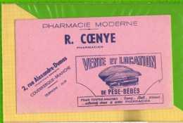 Buvard & Blotting Paper : Pharmacie R. COENYE Pese Bebes COUDEKERQUE BRANCHE - Chemist's