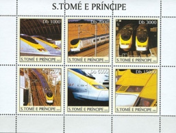 S. TOME & PRINCIPE 2003 - Eurostar Trains 6v - Sao Tome And Principe