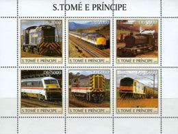 S. TOME & PRINCIPE 2003 - Trains 6v - Sao Tome And Principe