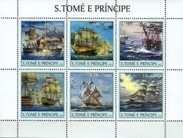 S. TOME & PRINCIPE 2003 - Sail Ships 6v - Sao Tomé Y Príncipe