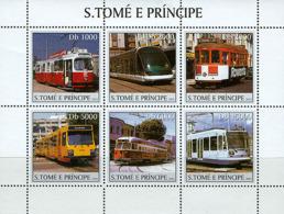 S. TOME & PRINCIPE 2003 - Trams 6v - Sao Tome And Principe