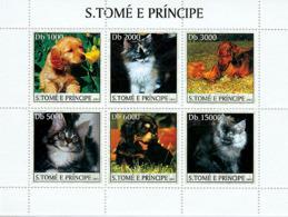S. TOME & PRINCIPE 2003 - Dogs & Cats 6v - Sao Tomé Y Príncipe