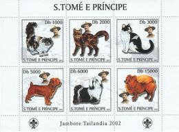 S. TOME & PRINCIPE 2003 - Dogs & Cats & Scouts 6v - Sao Tome Et Principe