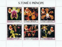 S. TOME & PRINCIPE 2003 - Orchids & Pope 6v - Sao Tomé Y Príncipe