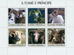 S. TOME & PRINCIPE 2003 - Mouffons 6v - São Tomé Und Príncipe