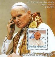 S. TOME & PRINCIPE 2003 - Pope John Paul II S/s - Sao Tome And Principe