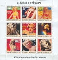 S. TOME & PRINCIPE 2003 - Marlyn Monroe 9v - Sao Tome And Principe