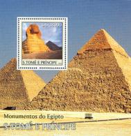 S. TOME & PRINCIPE 2003 - Monuments Of Egypt S/s - São Tomé Und Príncipe