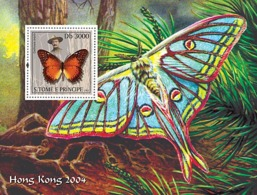 S. TOME & PRINCIPE 2003 - Butterflies & Scouts S/s - Sao Tome And Principe