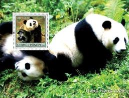 S. TOME & PRINCIPE 2003 - Panda & Scouts S/s - Sao Tome Et Principe