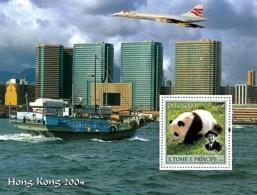 S. TOME & PRINCIPE 2003 - Panda & Scouts & Concorde S/s - Sao Tome Et Principe