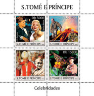 S. TOME & PRINCIPE 2004 - Celebrities 4v - Sao Tome And Principe