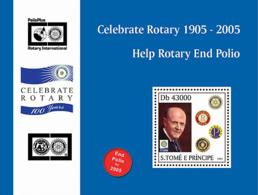 S. TOME & PRINCIPE 2004 - 95th Rotary Int. Convention Osaka, Japan S/s - Sao Tome And Principe