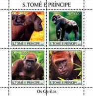 S. TOME & PRINCIPE 2004 - Gorillas 4v - Sao Tomé Y Príncipe