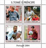 S. TOME & PRINCIPE 2004 - Soccer/Football Portugal 2004 4v - Sao Tome And Principe