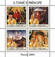 S. TOME & PRINCIPE 2004 - Paintings & Pope 4v - YT1926-1929,  Mi 2663-2666 - Sao Tome Et Principe