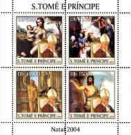 S. TOME & PRINCIPE 2004 - Xmas - Noel: Paintings - YT 1930-1933,  Mi 2659-2662 - Sao Tome Et Principe