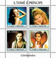 S. TOME & PRINCIPE 2004 - Celebrities: Monroe, Bardot, Garbo, Lauren 4v - YT 1934-1937,  Mi 2653-2656 - Sao Tome And Principe