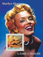 S. TOME & PRINCIPE 2004 - Celebrities: Monroe S/s - YT BF303,  Mi BL.519 - Sao Tome And Principe