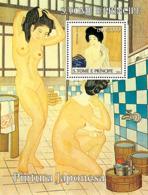 S. TOME & PRINCIPE 2004 - Japanese Paintings S/s - YT BF315 ,  Mi BL.524 - Sao Tome And Principe