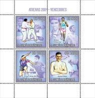 S. TOME & PRINCIPE 2006 - Winners Of Athens 2004 (judo, Running, Tabl-tennis, Swimming) 4v - YT 1987-1989,  Mi 2729-2732 - Sao Tome Et Principe