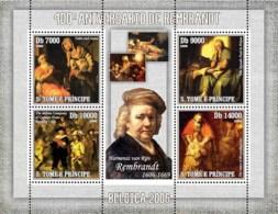S. TOME & PRINCIPE 2006 - Paintings Of Rembrandt (400th Anniv.) 4v - YT 2066-2069,  Mi 2812-2815 - Sao Tome Et Principe