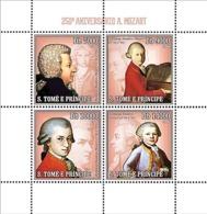 S. TOME & PRINCIPE 2006 - 250th Anniversary W.A. Mozart 4v - YT 2010-2013,  Mi 2714-2717 - Sao Tomé Y Príncipe