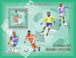S. TOME & PRINCIPE 2006 - Germany 2006 - African Football Stars S/s - YT 323,  Mi 2747/BL.536 - Sao Tome Et Principe